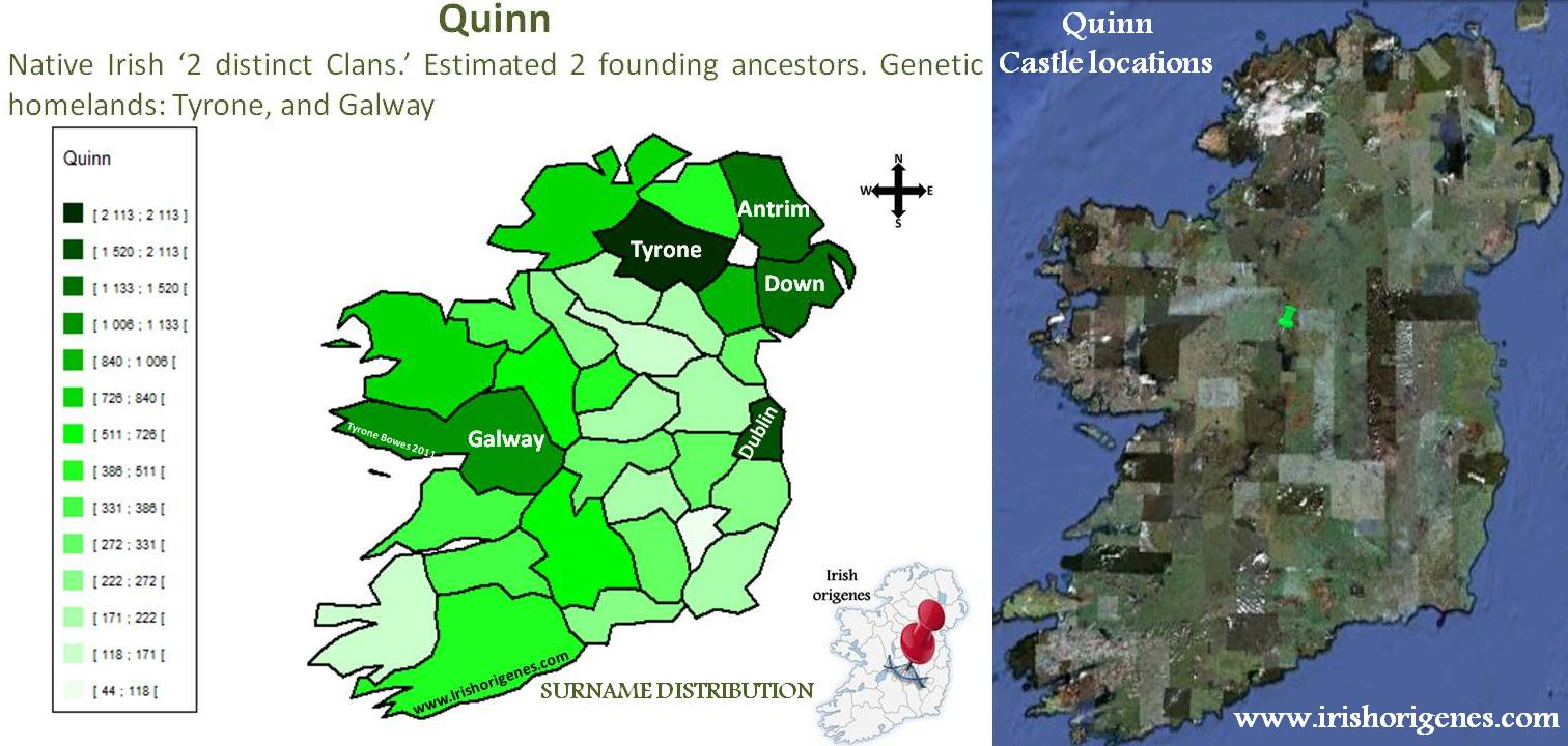 Map Of Quinn Ireland.Quinn Irish Origenes Use Family Tree Dna To Discover Your Genetic