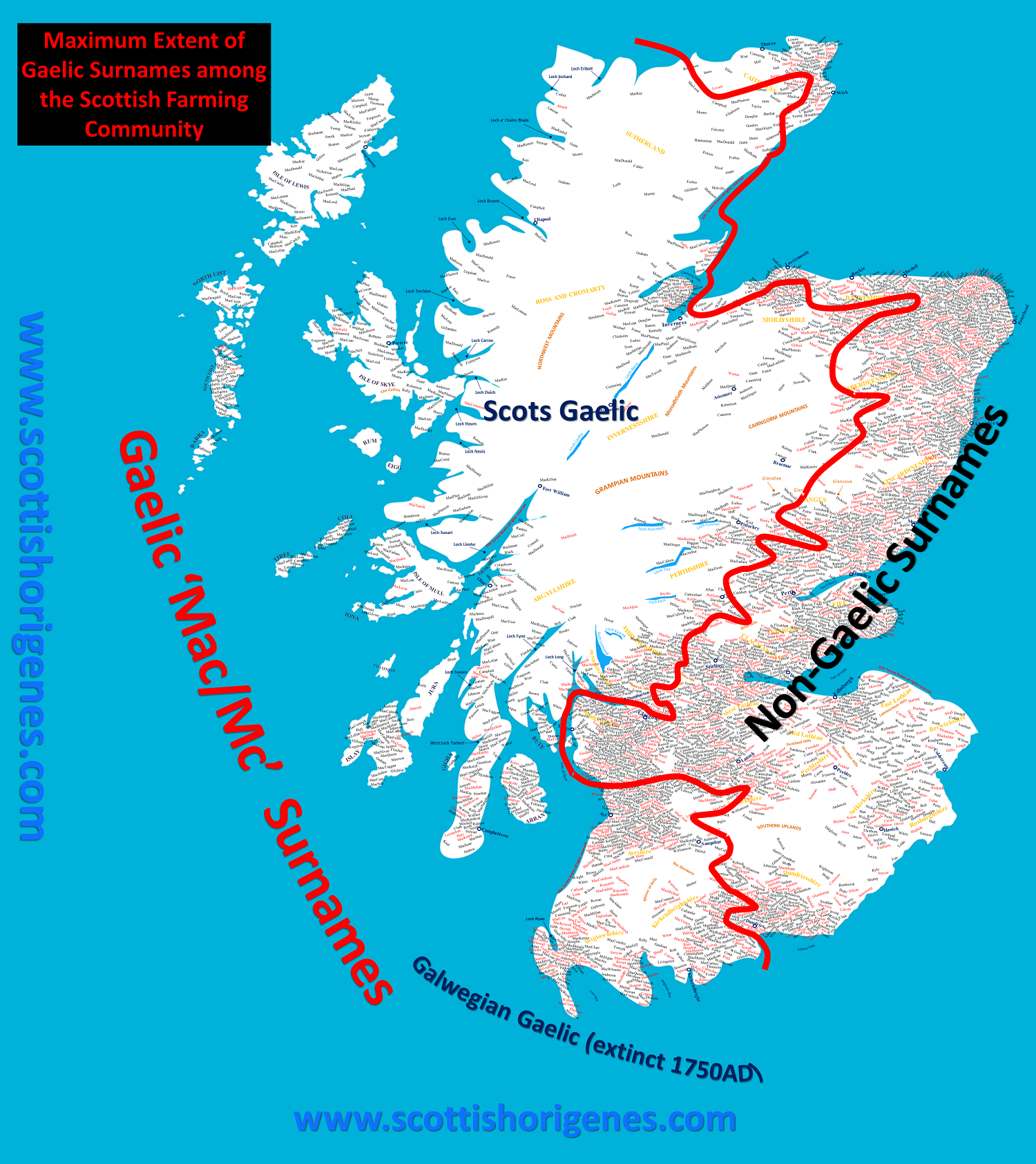Map Of Ireland And Scotland.The Origin Of The Irish And Scottish Gaels As Revealed By Their Dna