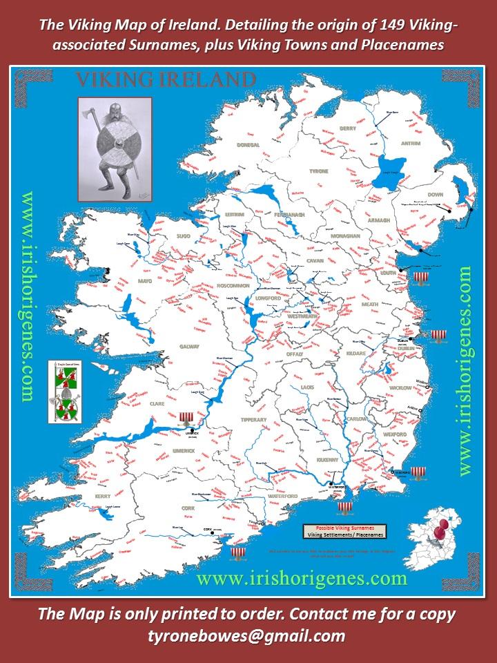 Map Of Ireland Vikings.Irish Origenes Viking Ireland Report And Map Irish Origenes Use