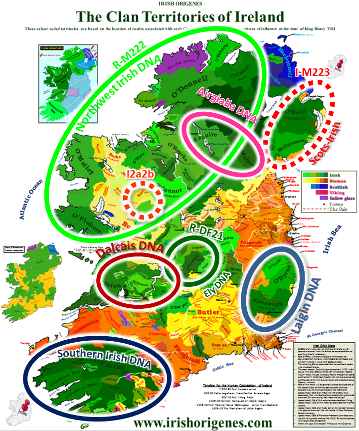 Map Of Ireland Midlands.The Dna Of The Irish Gael Irish Origenes Use Family Tree Dna To