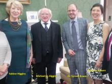 Michael D Higgins and Dr Tyrone Bowes