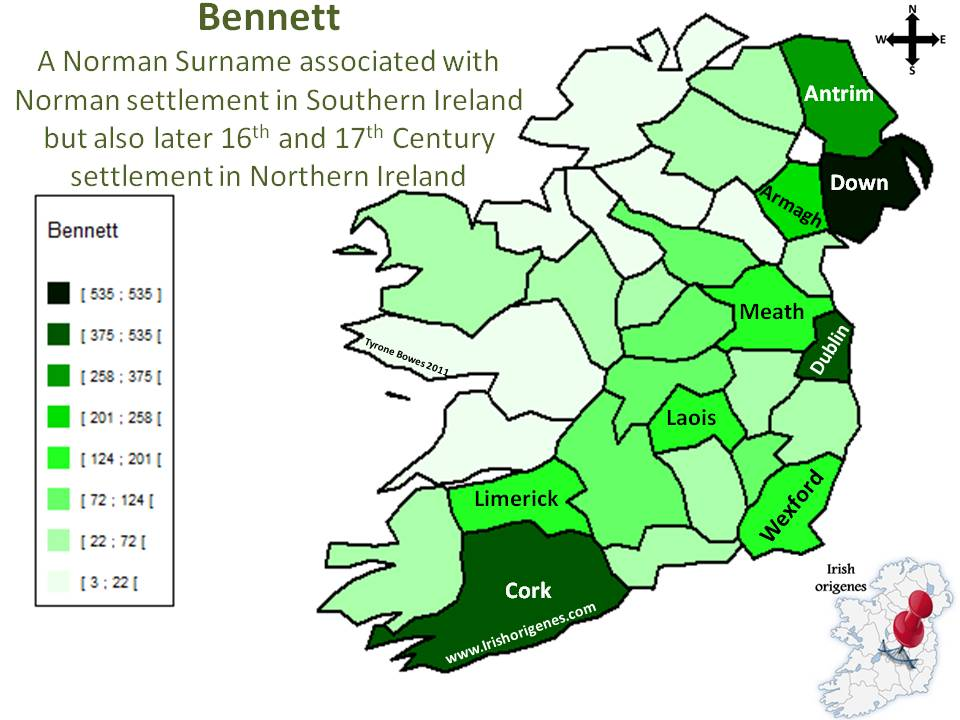 Bennett   Irish Origen...