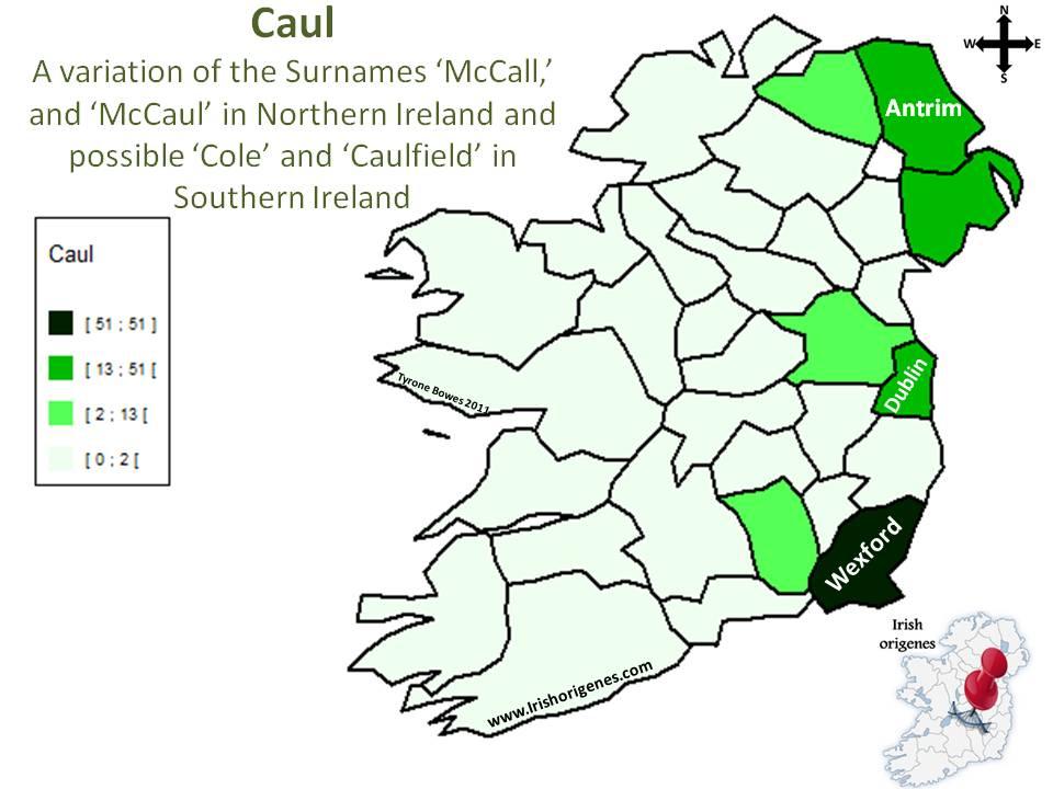 Caul   Irish Origenes:...