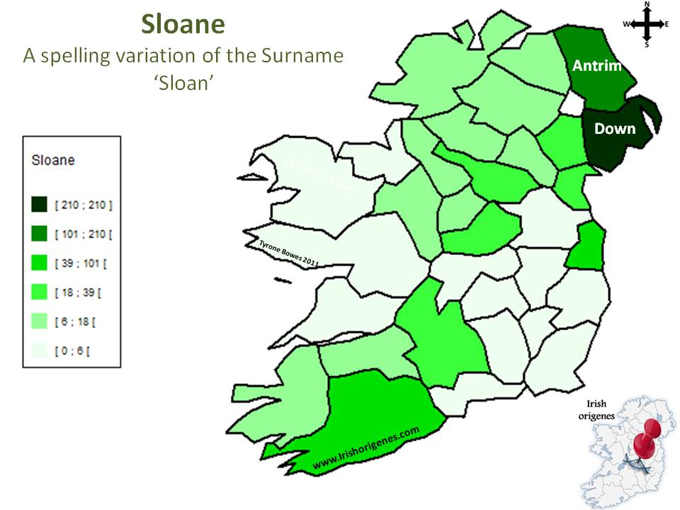 Map Of Ireland 2100.Sloane Irish Origenes Use Family Tree Dna To Discover Your